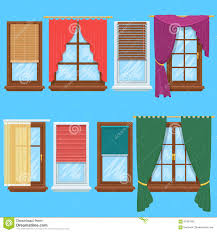 window curtains and blinds vector set stock vector image 65407562