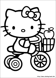 kitty picking apple coloring pages ride bike free