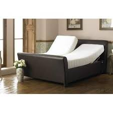 Verona Bed Frame Bodyease Verona 6ft Dual Real Leather Sleigh Bed Frame