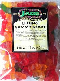 jade li hing mui gummy bears candy from hawaii a fun snack to