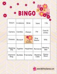easy bridal shower print these free bingo cards for an easy bridal shower