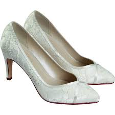 wedding shoes mid heel rainbow club melanie ivory lace mid heel wedding shoe bridal