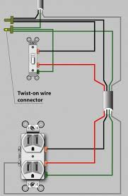 turn porch light into outlet an electrician explains how to wire a switched half outlet