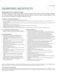 Project Architect Resume Crawford Careers Crawford Architects