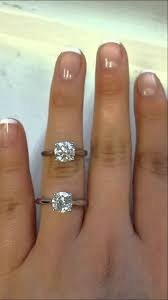 7mm diamond diamond versus fb moissanite same style ring