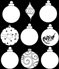 colour design christmas ornaments printables