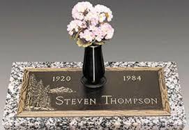 Flat Grave Markers With Vase Bronze Cemetery Markers Philadelphia Tombstones U0026 Headstones