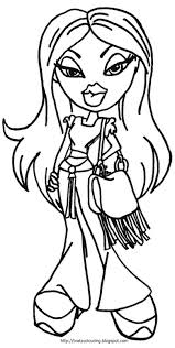 bratz coloring pages bratz dolls coloring in pictures