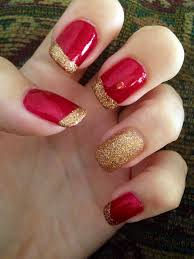 best 25 red and gold nails ideas on pinterest gold tip nails