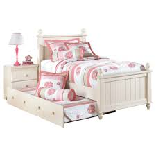 retreat twin poster bed with trundle