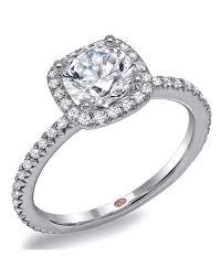 flat engagement rings flat setting single row cushion halo engagement ring cushion