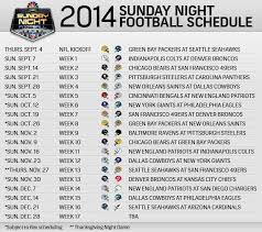 2014 nfl sunday football schedule my new orleans saints