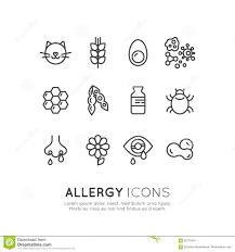 Design K Hen Logo Set Collection Der Allergie Des Lebensmittels Und Der
