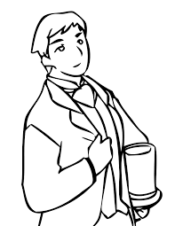 best man coloring page handipoints