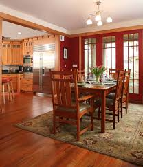 rug in dining room furniture cherry kitchen cabinets in craftsman dining room with