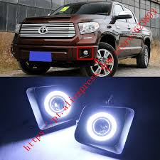2016 toyota tundra fog light bulb 2x led daytime running lights drl projector lens fog lights angel