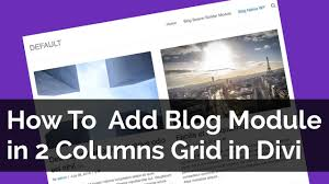 Blog 2 How To Add Blog Module In 2 Columns Grid In Divi Theme Youtube