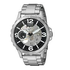Fossil Machine 3 Hand Date Fossil Nate Watch Ebay