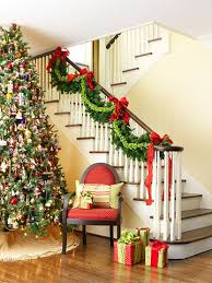 How To Decorate Banister With Garland Decorate Your Staircase For Christmas