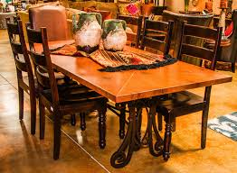 Copper Dining Room Tables Copper Top Dining Table Turned Pedestal Table Images Copper