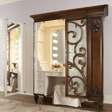 jerdon style euro design tri fold lighted mirror furniture new lighted vanity makeup mirror design doherty house