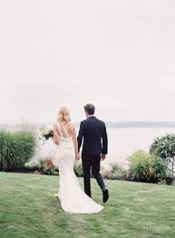 chic backyard wedding in washington once wed