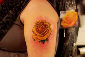 tattoo roses on shoulder 28 best yellow rose tattoos
