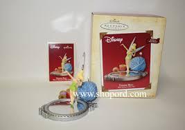 hallmark 2004 tinker bell wind up movement ornament walt disney