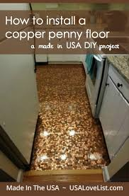 Installing A Plastic Backsplash Youtube by How To Install A Copper Penny Floor A Made In Usa Diy Project