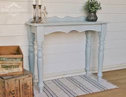 paint hall light blue vintage inspired milk paint hall table with hand