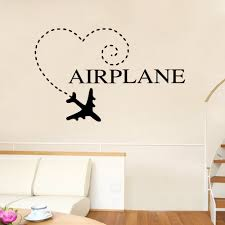 aw9286 vinyl removable heart wall decal home decor airplane aw9286 vinyl removable heart wall decal home decor airplane silhouette wall stickers for bedroom in wall stickers from home garden on aliexpress com