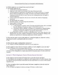 How Many Pages Does A Resume Have To Be Learn More About Vermont U0027s New Earned Sick Time Law Vermont