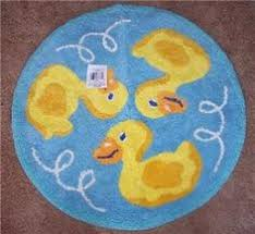 Yellow Duck Bath Rug Squeaky Clean Ducks Bath Rug Mat Rubber Ducky