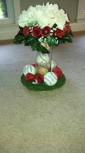 baseball wedding table decorations baseball wedding centerpieces baseball centerpiece i made for my