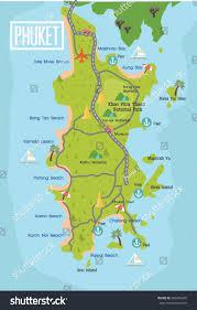 World Map Thailand by Phuket Travel Map Thailand Vector Stock Vector 283239245