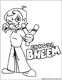 chhota bheem coloring page nickelodeon coloring pages pinterest