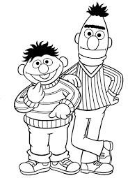 ernie u0026 bert coloring pages geekery i like pinterest