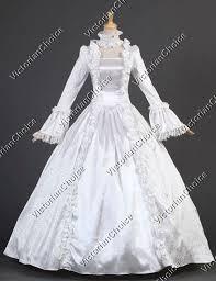 Ghost Bride Halloween Costume Gothic White Vintage Wedding Gown Ghost Bride Halloween Costume