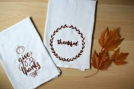 diy thanksgiving tea towel silhouette stencil tutorial discount