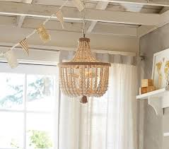 How To Decorate A Chandelier With Beads Dahlia Chandelier Pottery Barn Kids