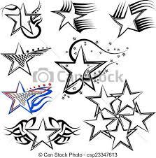 tattoo star design vector art vector clip art search