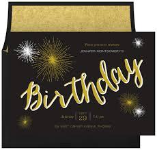 birthday sparklers birthday sparklers invitations in gold greenvelope