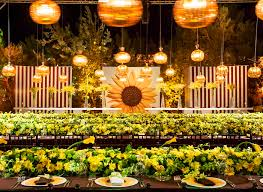 sunflower wedding inside a luxury sunflower wedding arabia weddings