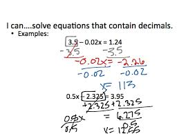 2 3 solving multi step equations with fractions and decimals