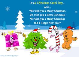 a popular carol free carol day ecards 123