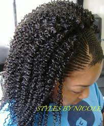 hair styles with jerry curl and braids small braids in front w sew in jerry curl in back in braids