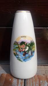 vintage norwegian ceramic erling krage fishing troll vase norway