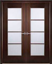wenge frosted center glass wood exterior door etched glassmodern interior bifold doors frosted