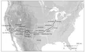 Old Route 66 Map by Get Your Kicks On Route 66 Cnn Travel