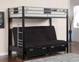 Metal Futon Bunk Beds Clifton Black Silver Metal Futon Bunk Bed For College